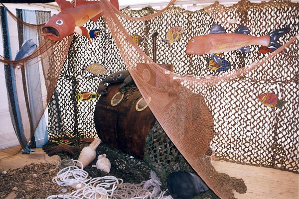 décor stand fête du millésime 1999 domaine de la tour du bon